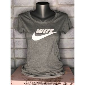 WIFE Swoosh Graphic T-Shirt
